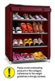 #5: Pindia  Shoe cabinet , 4-5  Layer Maroon Shoe Rack Organizer