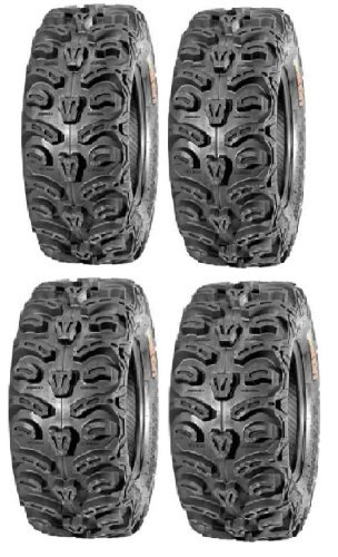 Powersports Bundle Full Set of Kenda Bear Claw HTR Radial (8ply) 27x9-12 and 27x11-12 ATV Tires (4) by