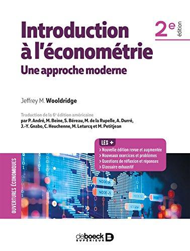 Introduction à l'économétrie : Une approche moderne par Collectif
