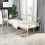 Aingoo Tagesbett Metallbett mit Bettrahmen für Schlafzimmer Wohnzimmer Balkon...
