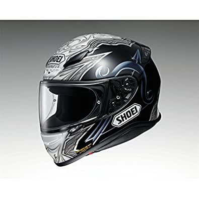 Shoei Casco Moto NXR Diabolic Premium Helmet, (Black Blue - TC-5), XL