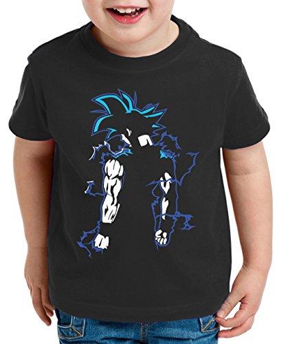 Goku Back Super Son Camiseta para Niños T-Shirt Goku Dragon Master Ball Vegeta Turtle Roshi Db, Farbe2:Negro;Kinder T-Shirt Größe:110/116