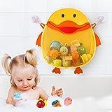 Safe & Care Organizador de Juguetes para el Baño, Bolsa de Malla para juguetes de baño para bebés, Almacenamiento Extra Grande para Juguetes de Baño para Niños, de Secado Rápido, Pato Amarillo Lindo