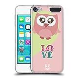 Head Case Designs Pink Liebe Kawaii Eule Soft Gel Hülle für Apple iPod Touch 6G 6th Gen