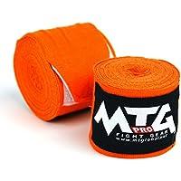 MTG Pro 5m Elasticated Hand Wraps - Orange