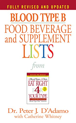 Blood Type B Food, Beverage and Supplement Lists PDF Books