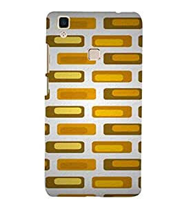 For Vivo V3Max yellow bricks, brown bricks, bricks pattern, zigzag pattern Designer Printed High Quality Smooth Matte Protective Mobile Case Back Pouch Cover by APEX