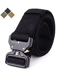 Tactical belt Men's Heavy Duty Belt Men Military 1.5'' Webbing Belt Quick-Release Riggers nylon Belt with metal Buckle