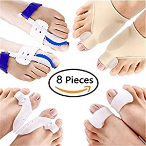 8 TEILE/SATZ Hallux Valgus Corrector Alignment Toe Separator Schmerzlinderung Fußpflege