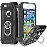 LeYi Coque iPhone 7 Plus/8 Plus,Coque iphone 6s Plus/6 Plus avec Aimant Anneau, Double Couche Renforcée TPU Silicone Antichoc Armure Etui avec Protection écran pour Apple iPhone 6+/6S+/7+/8+ Black