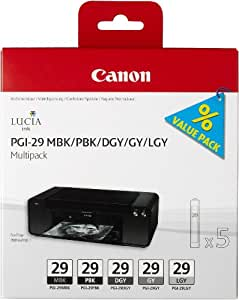 Canon 4868B005 Cartouche d'encre d'origine Noir mat/Photo noir/Gris foncé/Gris/Gris clair