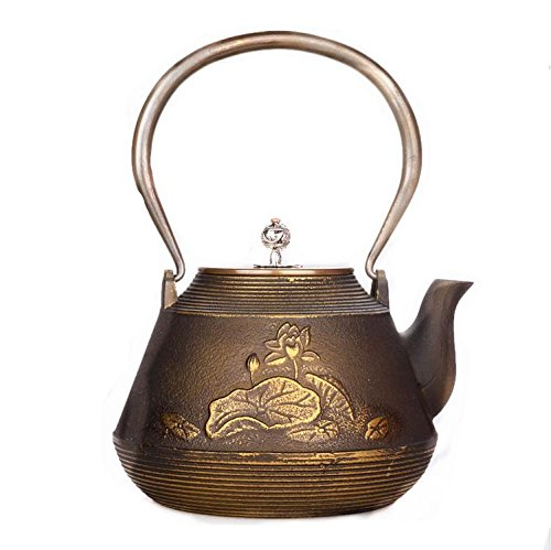 Giappone Cast Iron Pot Pesce Gioca Lotus Modello Boutique ebollizione l