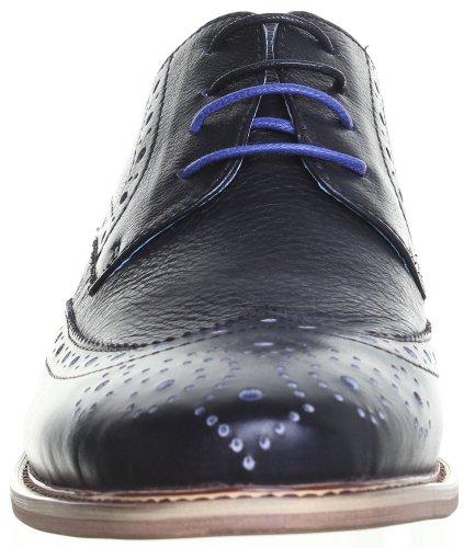 Justin Reece  Edward, Chaussures de ville à lacets pour homme Noir A