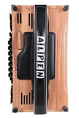 Akkordeon Bassbodenleder für Steirische Harmonika Variante 2, schwarz