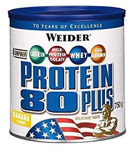 Weider, 80 Plus Protein, Banane, 1er Pack (1x 750g)