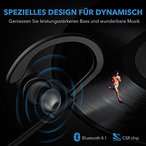 Mpow Flame Bluetooth Kopfhörer, IPX7 Wasserdicht Kopfhörer Sport, 7-10 Stunden Spielzeit/Bass+ Technologie, Sportkopfhörer Joggen/Laufen Bluetooth 4.1, In Ear Kopfhörer mit Mikrofon für iPhone Android - 3