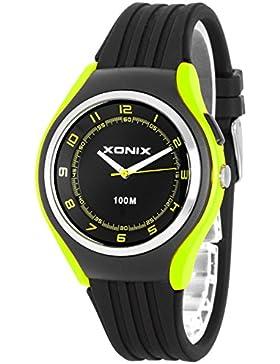 Schlichte XONIX 12h-Armbanduhr für Herren/ Teenager mit Licht wasserdicht bis 100m, XA846FF/5