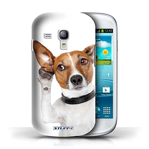 Hülle für Samsung Galaxy S3 Mini / Neugieriges Kaninchen / Lustige Tiere Kollektion Neugieriger Hund
