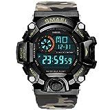 Adisaer Herren Uhr Klassisch Wasserdicht Digitale Uhr Herrenuhr Tarnung Khaki Outdoor Sportuhr Armbanduhr Automatikuhr