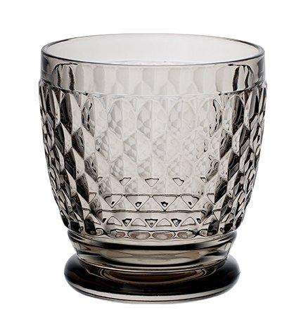 Villeroy & Boch Boston Coloured Trinkglas, 330 ml, Kristallglas, Klar/Grau