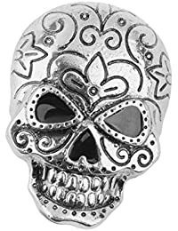 Skull Brooch Pin Halloween Party Favor Decoration Antique Silver