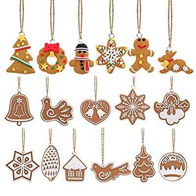 FENICAL Christmas Tree Ornaments Animals Hand Snowflake Pendants Christmas Tree decoration 17Pcs