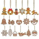 FENICAL Christmas Tree Ornaments Tiere Hand Schneeflocke Anhänger Weihnachtsbaum Dekoration 17Pcs