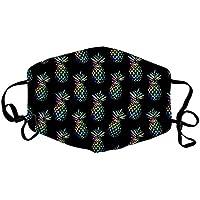 TEELONG - Pañuelo de cara para mujer y hombre, diseño floral, lavable, reutilizable, transpirable, con 2 filtros reemplazables