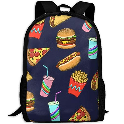 22492a6744c4 best& Hot Dog Fast Food School Backpack Bookbag For College Travel Hiking  Fit Laptop Water Resistant