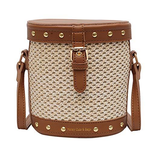 OIKAY Mode Damen Tasche Handtasche Schultertasche Umhängetasche Mode Neue Handtasche Frauen Umhängetasche Schultertasche Strand Elegant Tasche Mädchen 0605@053