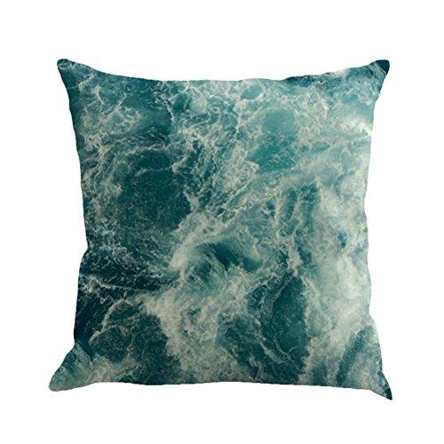 sunone11Ocean Sea Wave Überwurf Kissen bedeckt Protector Case für Couch Rückseite Kissen Kissenbezüge Decor 43,2x 43,2cm -