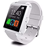 Makecell Compatible Android and iOS Smartphones Bluetooth Smartwatch with Sim Card Support for Android and iOS Smartphones (White)