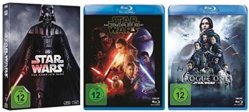 Star Wars komplett / Saga I-VI 1-6 + Erwachen der Macht + Rogue One [Blu-ray Set]