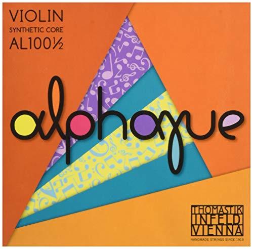 Thomastik Corde per Violino ALPHAYUE nucleo di nylon, set 1/2, Misura 283mm / 11.1'