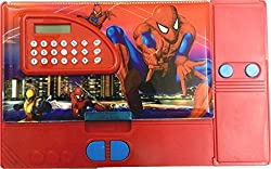 Jumbo Pencil Box with Calculator (Free USB LED Light) (Spiderman)