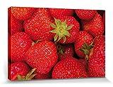 1art1 111235 Früchte - Süße Erdbeeren Poster Leinwandbild Auf Keilrahmen 30 x 20 cm