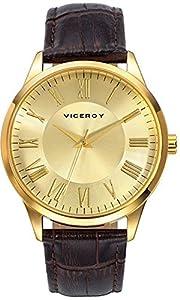 Reloj Viceroy Caballero 40427-23 Números Romanos Dorado de Viceroy