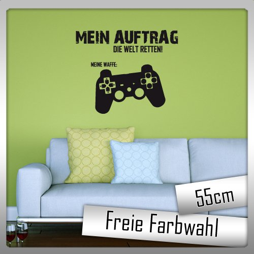 Mein Auftrag die Welt retten - Farbwunsch - WANDAUFKLEBER - ca. 55cm Breit
