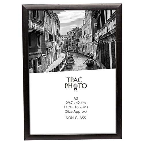 PAWFA3BBLK Matt Black Wood A3 (30x42cm) Certificate / Photo Frame with Non Glass Front by Inspire For Business