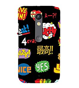 printtech Cool Quotes Funky Back Case Cover for Motoroal Moto X Play