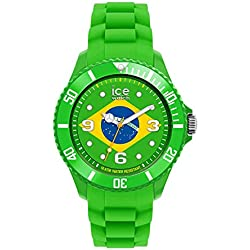 Ice-Watch Big Quartz Watch with Green Dial Analogue Display and Green Silicone Strap WO.BR.B.S.12