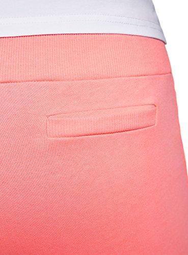 oodji Ultra Damen Jersey-Hose im Sport-Stil Rosa (4100N)