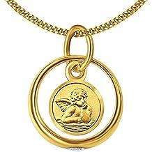 ANHÄNGER Taufring 333 Gold mit o.ohne Kette Babyschuhe