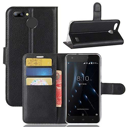 Handyhülle für Blackview A7 Pro 95street Schutzhülle Book Case für Blackview A7 Pro , Hülle Klapphülle Tasche im Retro Wallet Design mit Praktischer Aufstellfunktion - Etui Schwarz