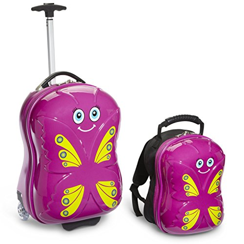 Travel Buddies Gepäck-Set, violett (violett) - TB107 (Gepäck-set Hardside)
