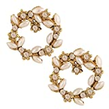 Riana classic pearl and diamond earrings...