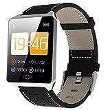 AFDK Smart Watch Ck19, Rastreador de actividad física a prueba de agua, Monitor de oxígeno en sangre/Contador de pasos, Reloj deportivo con Android e Ios - Tres colores,Plata