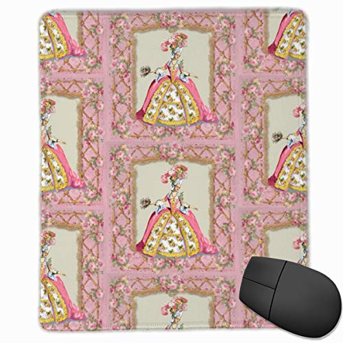 Marie Antoinette Lattice and Roses Mouse Pad Custom Design Gaming Mouse Mat Computer Mouse Pads with Non-Slip Neoprene Backing 9.8 X 11.8 inch (25 X 30 cm) Rose Lattice
