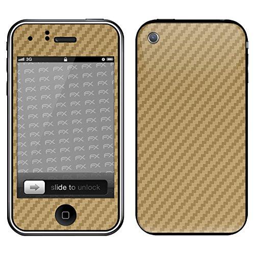 """Skin Apple iPhone 3Gs """"FX-Variochrome-Pearl"""" Designfolie Sticker FX-Carbon-Gold"""