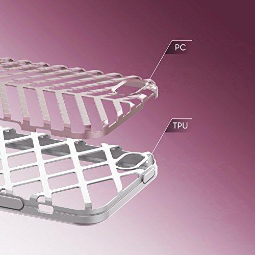 Urcover® Apple iPhone 5 / 5s / SE Schutzhülle Sword Series Back-Case Cover Gitter Schale Smartphone Schwarz / Silber Weiß / Rosa